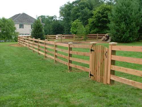 install new fence rails