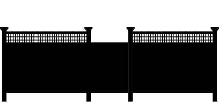 Wood Vinyl Panel Fence installation VT
